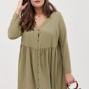 Long Sleeve Dress with Button Detail